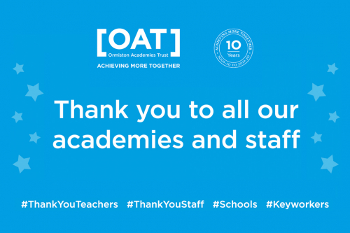 Thank you to all our academies and staff